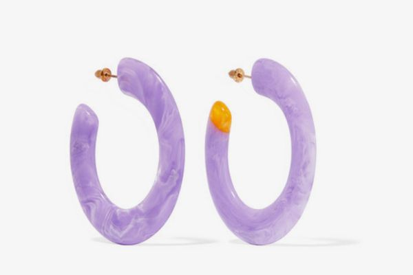Cult Gaia Mira acrylic hoop earrings
