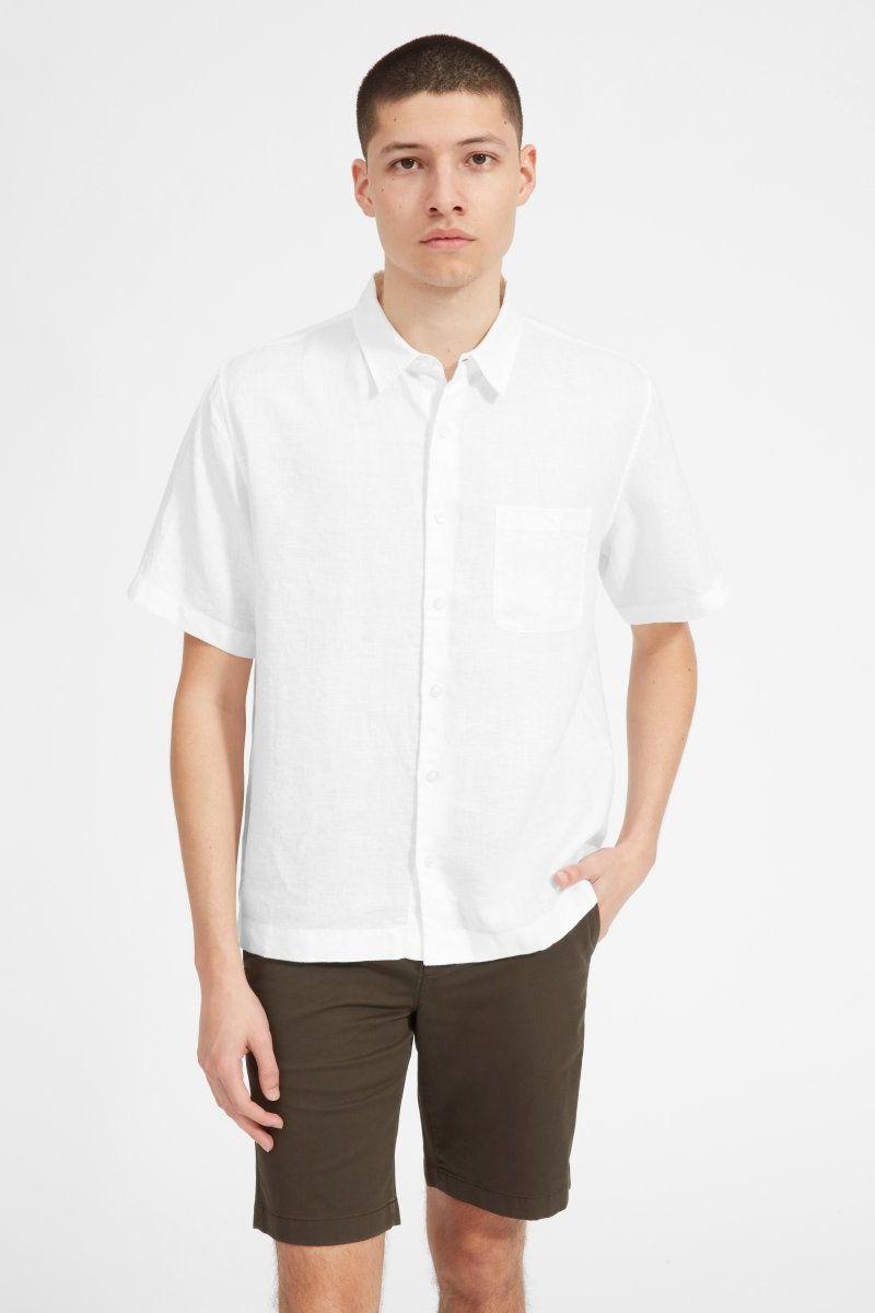 Everlane Linen Relaxed Fit Short-Sleeve Shirt