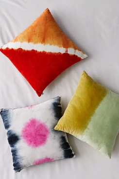 Urban Outfitters Tie-Dye Velvet Throw Pillow