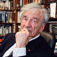 FILE - In this Sept. 12, 2012, photo Elie Wiesel is photographed in his office in New York. Wiesel, the Nobel laureate and Holocaust survivor has died. His death was announced Saturday, July 2, 2016 by Israel's Yad Vashem Holocaust Memorial. (AP Photo/Bebeto Matthews)
