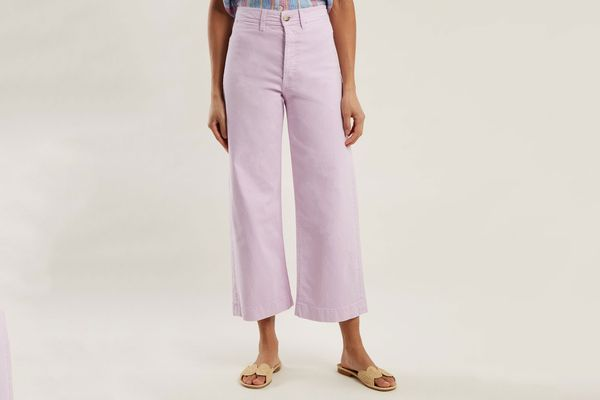 M.I.H JEANS Caron high-rise wide-leg cropped jeans