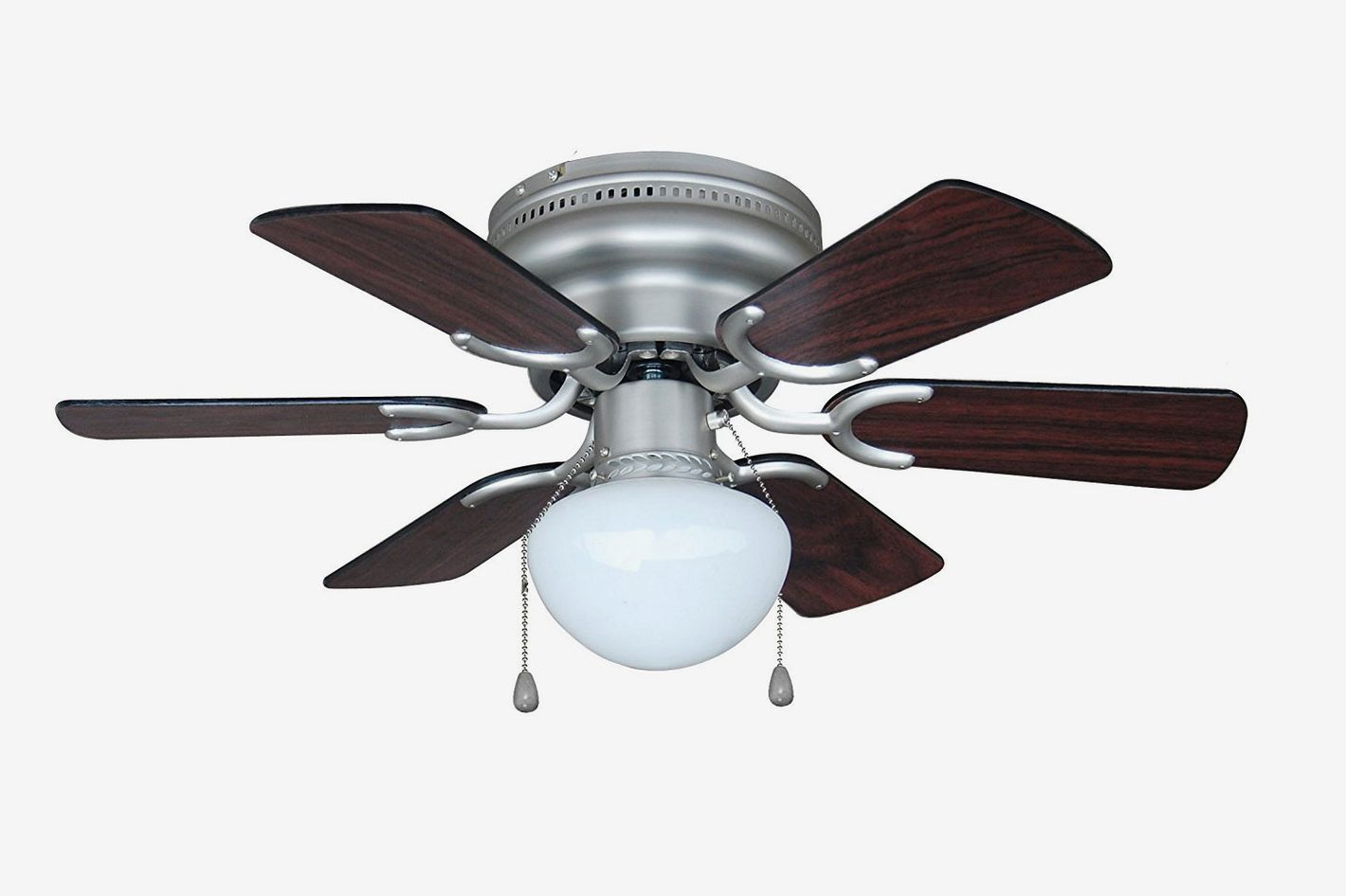 Hardware House Arcadia 30-Inch Satin Nickel Flush Mount Hugger Ceiling Fan