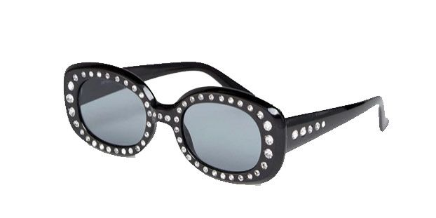90's Square Embellished Sunglasses