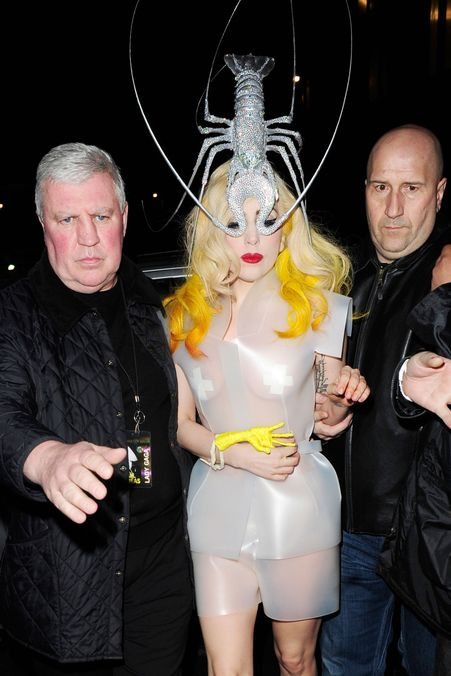 Photo 1 from Lady Gaga in a Philip Treacy Lobster Hat