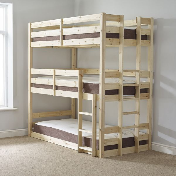 Strictly Triple Pine Bunk Bed