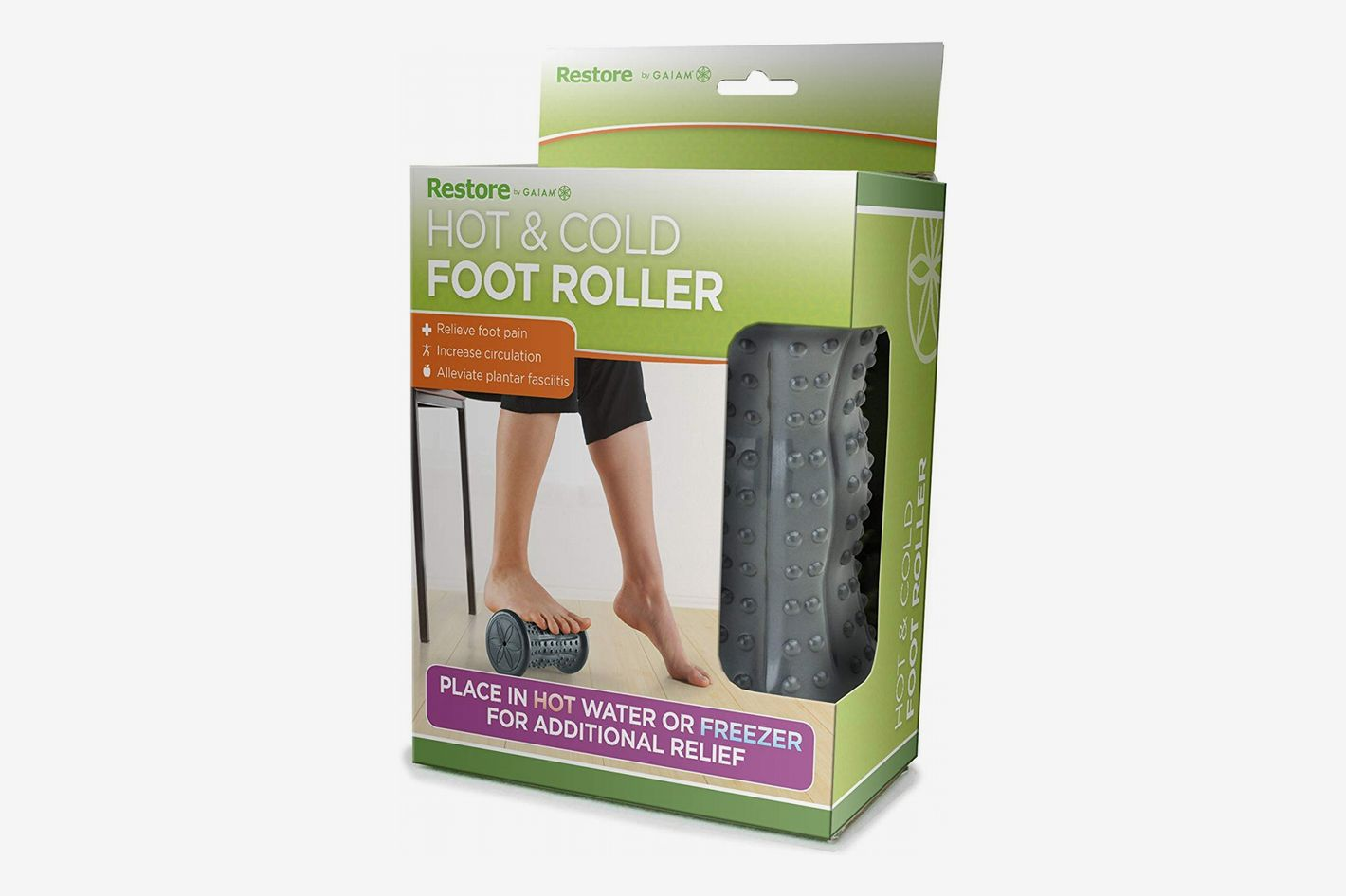 Gaiam Restore Hot/Cold Foot Massage Roller