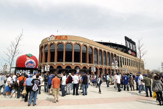 NEW YORK - APRIL 05:  Fans outside the stadium prior to the Opening Day Game between the New York Mets and the Florida Marlins at Citi Field on April 5, 2010 in New York, New York.  (Photo by Nick Laham/Getty Images)