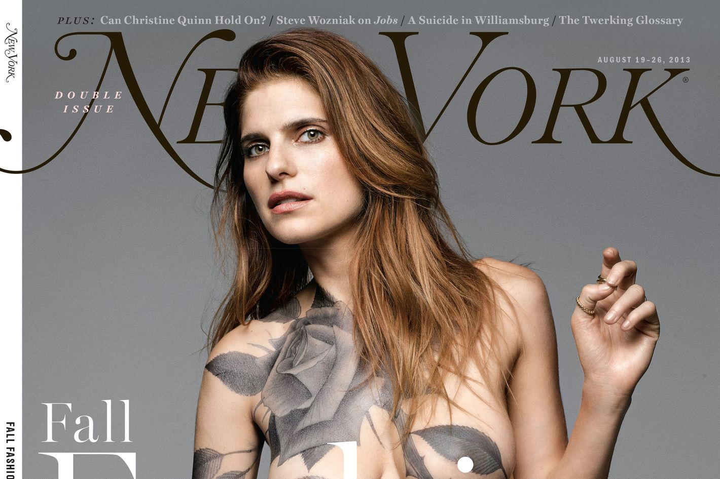 New York' Fashion Issue Cover Preview: Lake Bell Wears a Tattoo