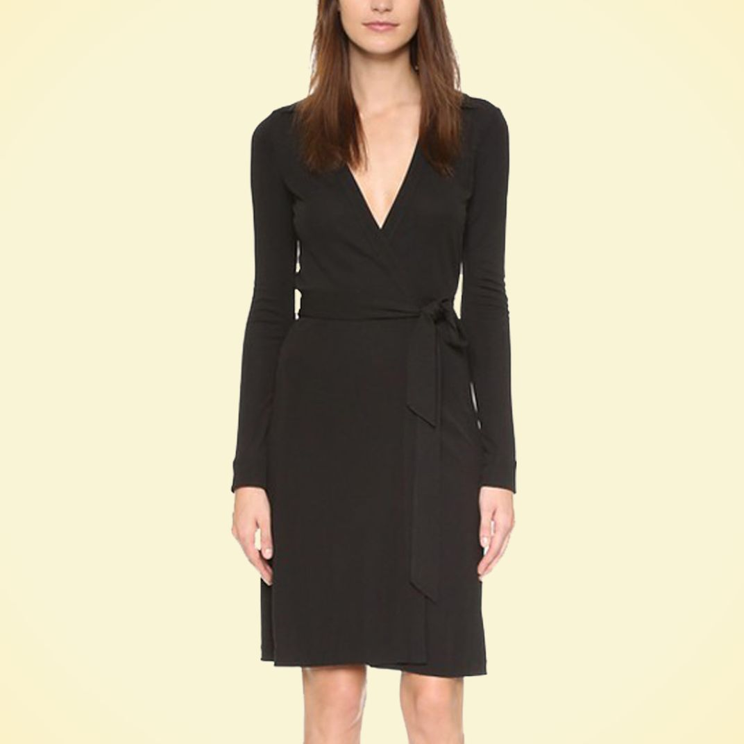 The Best Black Dress for Funerals 4: DVF Wrap Dress  The