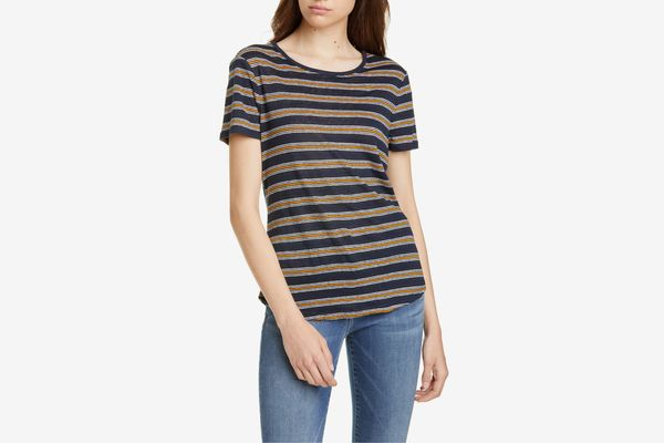 Frame True Stripe Linen Tee