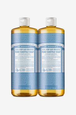 Savon liquide Dr. Bronner's Pure-Castile, bébé non parfumé (Paquet de 2)