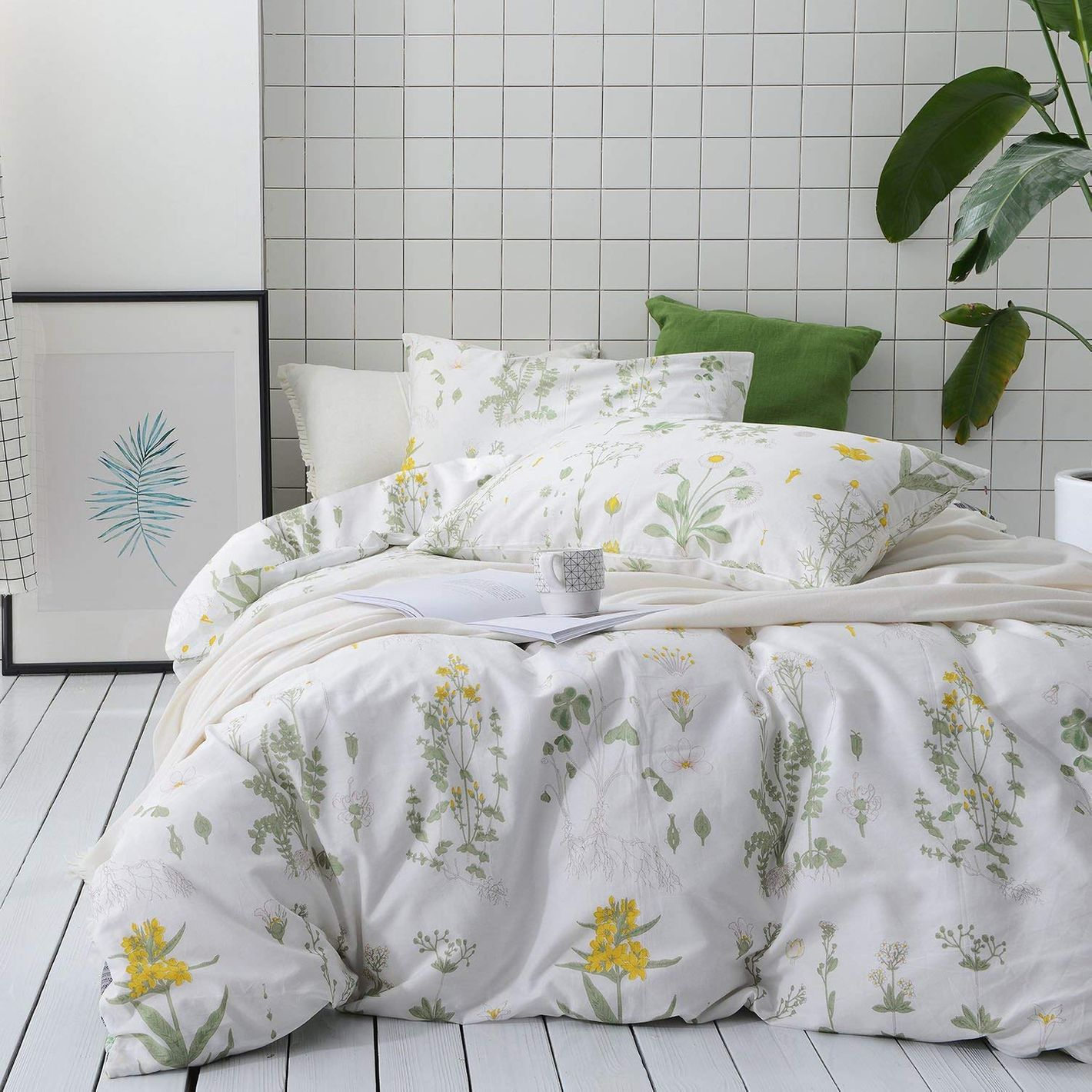 Wake In Cloud Botanical Duvet Cover Set