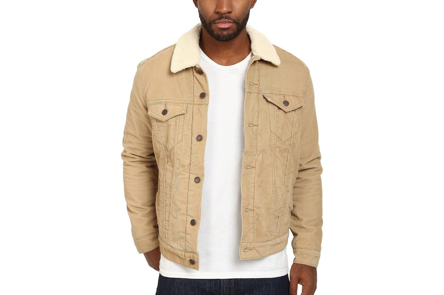 Levi's Men's Sherpa Trucker Chino Cord Jacket