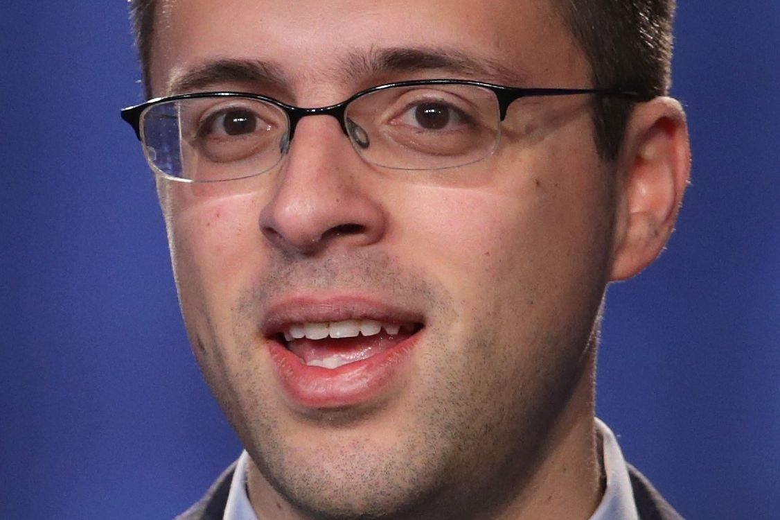 "Journalist Ezra Klein speaks during the opening plenary session of Families USA's Health Action 2014 conference January 23, 2014 in Washington, DC. The conference brought together health care advocates to focus on ""topics from Medicaid expansion and efforts to promote high-quality care to strategies for improving health care access for minorities."""