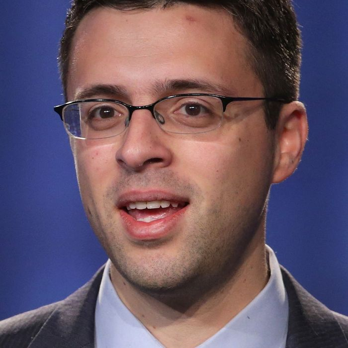 Journalist Ezra Klein speaks during the opening plenary session of Families USA's Health Action 2014 conference January 23, 2014 in Washington, DC. The conference brought together health care advocates to focus on