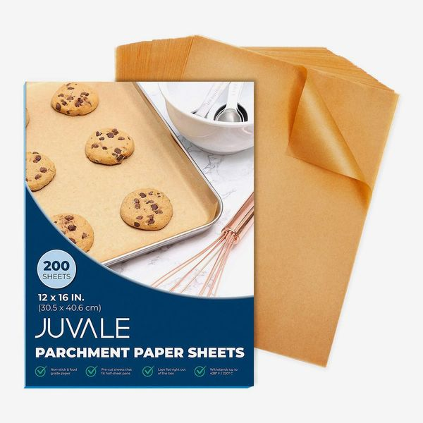 Juvale Precut Parchment Paper for Baking, Unbleached Brown, 12 x 16 In, 200 Sheets