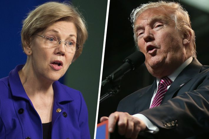 Warren and Trump.