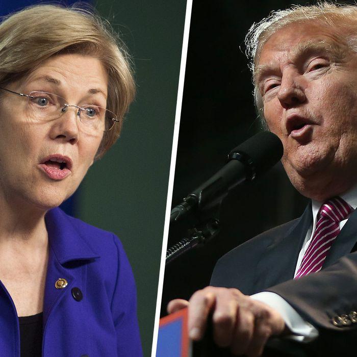 Warren and Trump.