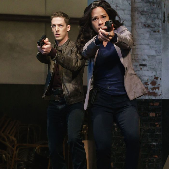 """SLEEPY HOLLOW: L-R: Zach Appelman and Jessica Camacho in the """"Sins of the Father"""" episode of SLEEPY HOLLOW airing Friday, Feb. 26 (8:00-9:01 PM ET/PT) on FOX. ©2016 Fox Broadcasting Co. Cr: Tina Rowden/FOX"""