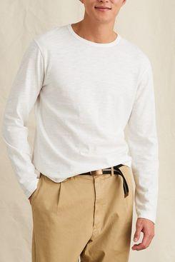 Alex Mill Standard Long Sleeve Slub Cotton Tee