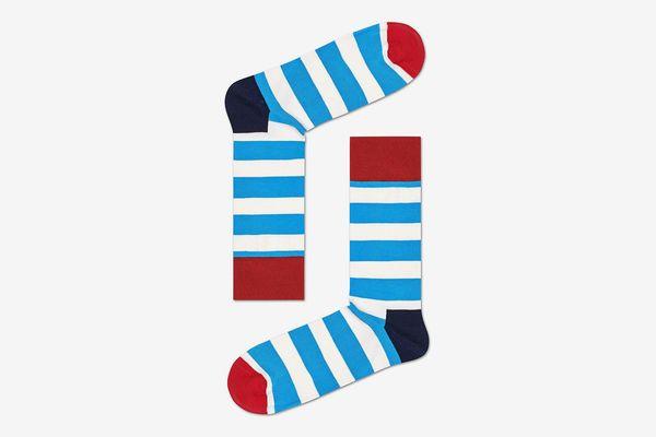 Happy Socks Blue Stripe Socks
