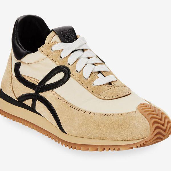 Loewe Flow Mixed Leather Runner Sneakers