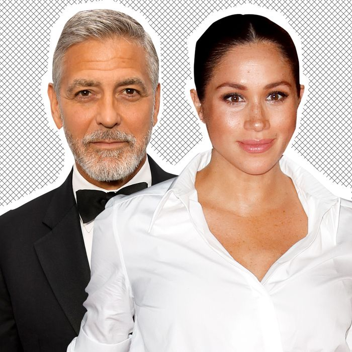 George Clooney and Meghan Markle.