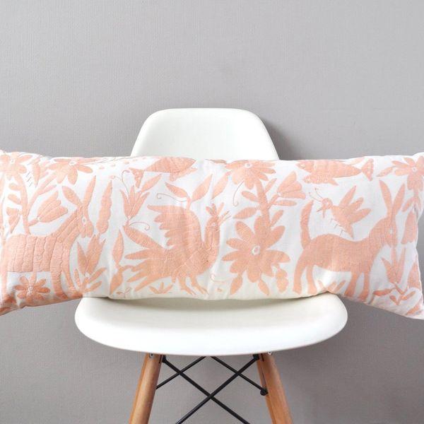 Otomi Lumbar Pillow Cover - Blush Pink