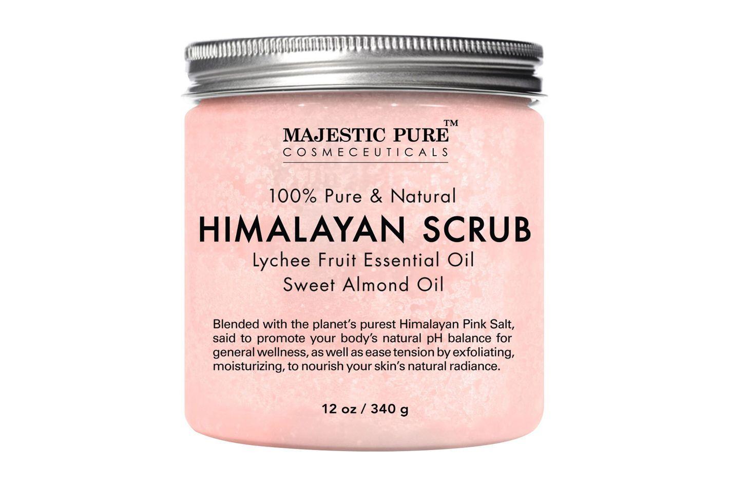 Majestic Pure Himalayan Lychee Pink Crystal Salt Scrub