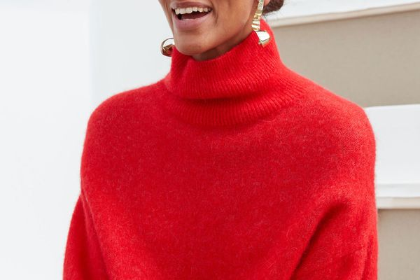 & Other Stories Soft Wool Blend Turtleneck Sweater
