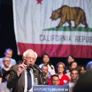US-VOTE-DEMOCRATS-SANDERS-RALLY-POLITICS