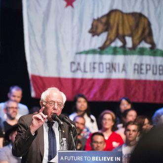 US-VOTE-DEMOCRATS-SANDERS-RALLY-POLITICS