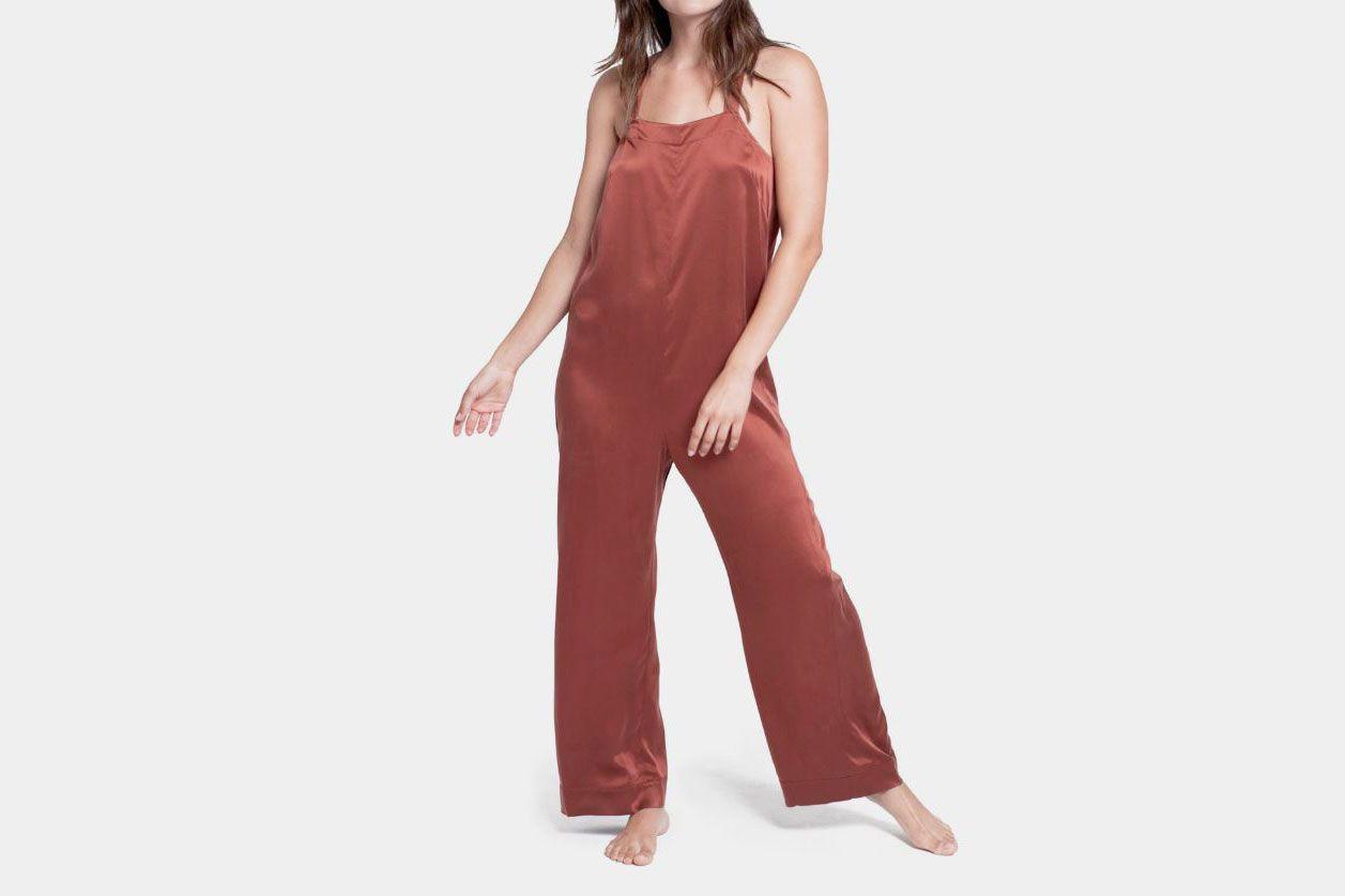 Lunya Washable Silk Sleep Jumpsuit