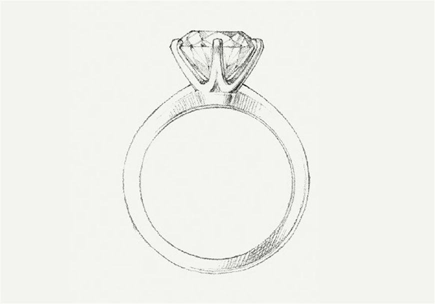 Sketch of engagement ring