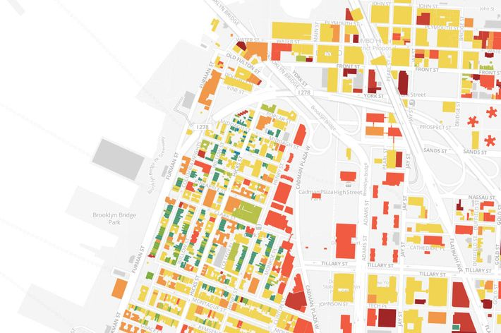Amazing Map ColorCodes Every Building In Brooklyn By The Date It - Map color code