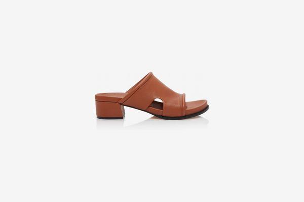 Loewe Cutout Leather Slides