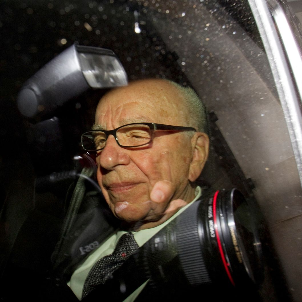 Rupert Murdoch, chief executive officer of News Corp., is driven from his apartment in London, U.K., on Monday, July 18, 2011. News Corp.'s Murdoch is struggling to control the destiny of the company he began building six decades ago after a trusted deputy was arrested and Scotland Yard's top official quit over ties to a suspect in the phone-hacking probe. Photographer: Simon Dawson/Bloomberg via Getty Images