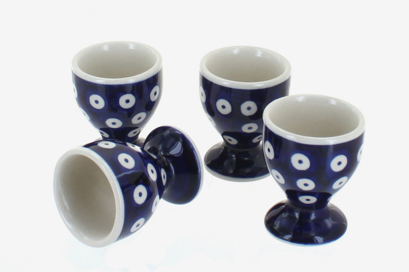 Polish Pottery Dots Egg Cup Set