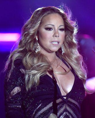 Mariah, presumably levitating