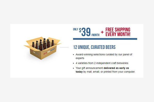 Beer Across America Monthly Beer Club Subscription