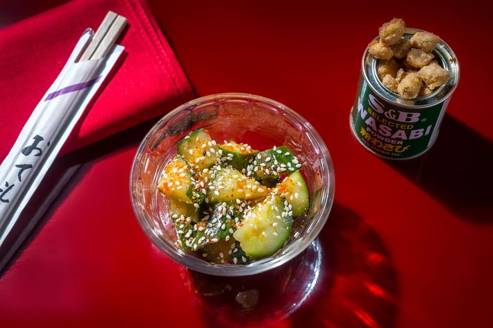 Chilled Spicy Cucumbers And Sweet And Salty Peanuts. Photo: Noah Fecks