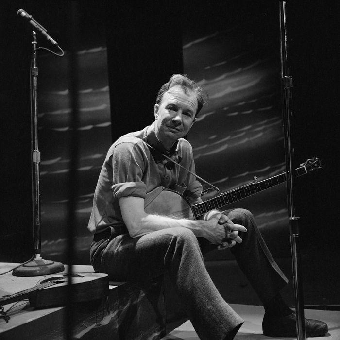 Pete Seeger performs on CAMERA THREE, November 30, 1965.
