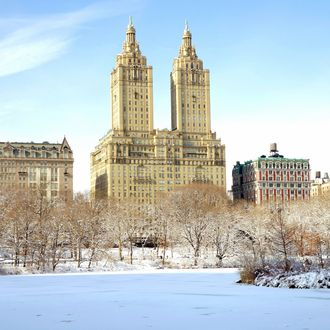Central Park West was blanketed with 8-inches of snow after Winter storm Maximus passed through the New York City Metropolitan area on Monday February 3, 2014.