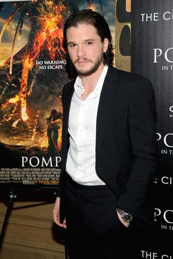 "Kit Harington attends the ""Pompeii"" screening hosted by TriStar Pictures with the Cinema Society and Grey Goose at Crosby Street Hotel on February 12, 2014 in New York City."