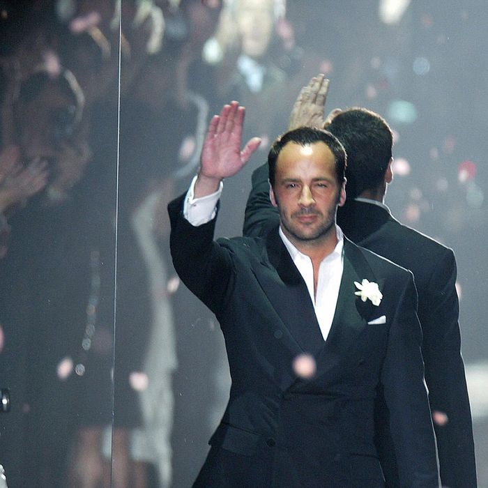 Tom Ford at his final Gucci show.