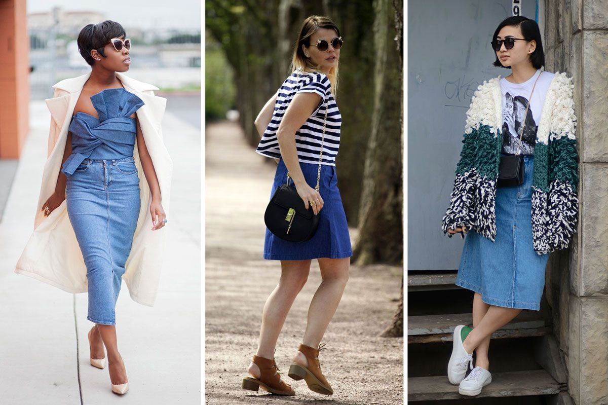 11 Ways to Make a Denim Skirt Actually Look Cool