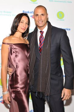 Model Cristen Barker and Photographer Nigel Barker attend the Baby Buggy 10th Anniversary gala at Avery Fisher Hall, Lincoln Center on December 5, 2011 in New York City.