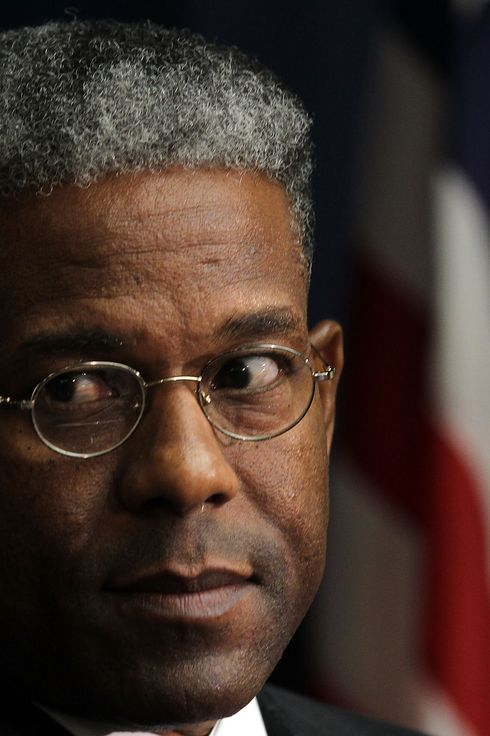 WASHINGTON, DC - FEBRUARY 08:  U.S. Rep. Allen West (R-FL) listens during a Tea Party Town Hall meeting February 8, 2011 at the National Press Club in Washington, DC. The town hall meeting was held by the Tea Party Express and Tea Party HD to address issues Tea Party members were concerned over.  (Photo by Alex Wong/Getty Images)