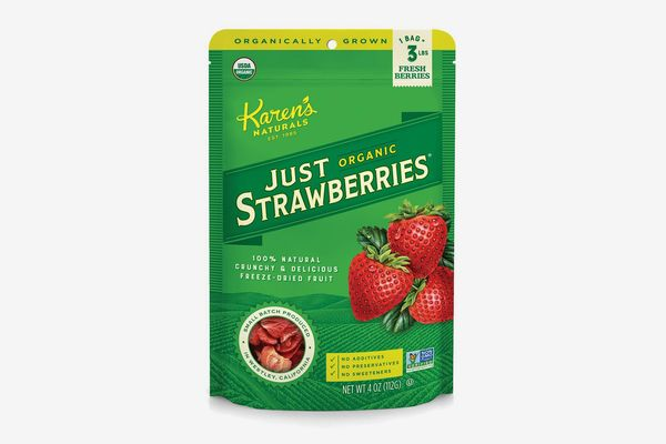 Karen's Naturals Organic Just Strawberries, Four-Ounce Pouch, Freeze-Dried Organic Strawberries