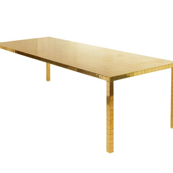 """Turning Into Gold 3"" large table by ROOMS"